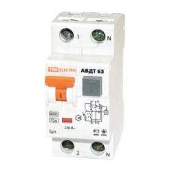 Дифференциальный автомат 2П 25А 30мА TDM АВДТ-63 характеристика С