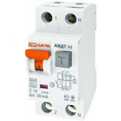 Дифференциальный автомат 2П 32А 30мА TDM АВДТ-32 характеристика С