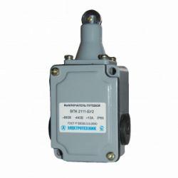 Выключатель концевой ВПК-2111-БУ2, толкатель с роликом, IP65, выключатель путевой (ЭТ)