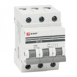 Выключатель нагрузки 3П 100А EKF PROxima ВН-125