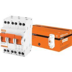 Выключатель нагрузки 3П 63А TDM МП-63 Модульный переключатель трехпозиционный